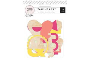embellissements bois Pink Paisley