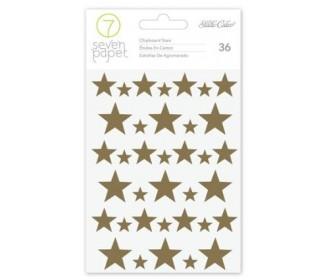 chipboards étoiles dorés