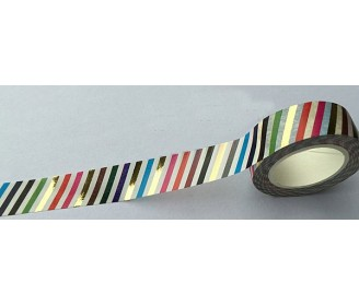 making tape rayures foil or et couleurs