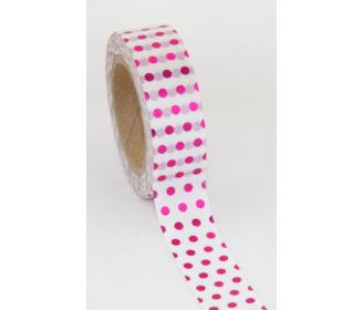 making tape petits pois foil rose