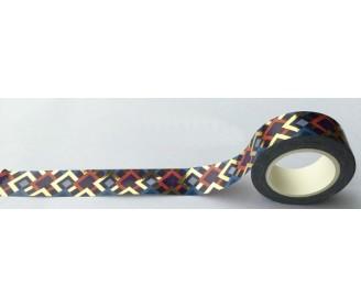 masking tape losanges foil or et couleurs