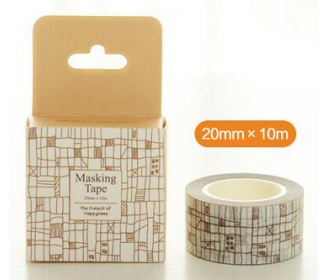 masking tape carreaux abstraits