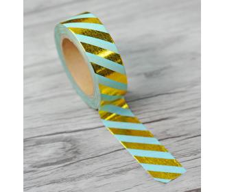 masking tape diagonales foil or et mint