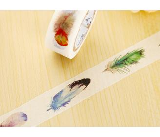 masking tape plumes peintes