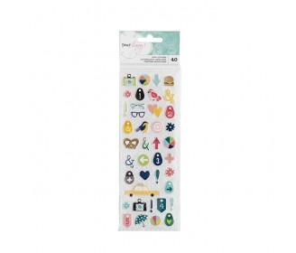 puffy stickers Dear Lizzy Saturday