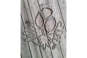 planche feuilles automnales et ses dies assortis