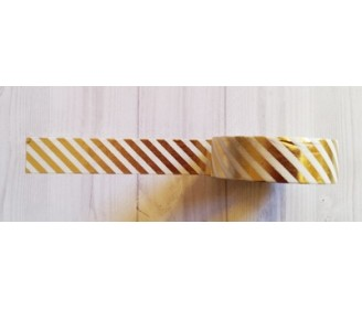 masking tape fines diagonales foil or