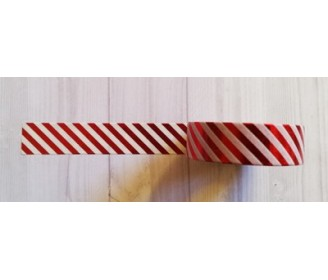 masking tape fines diagonales foil rouge