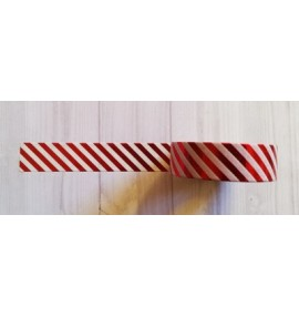 masking tape fines diagonales foil rouge