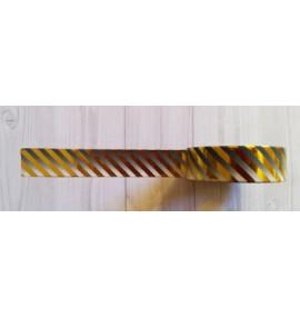 masking tape fines diagonales foil or fond dégradé gris