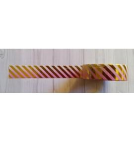 masking tape fines diagonales foil or fond dégradé rose