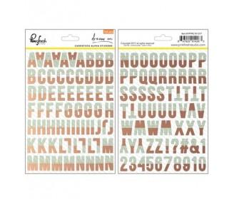 stickers alphabet bicolore