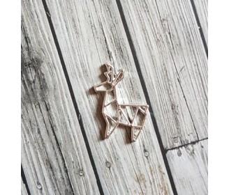 breloque cerf origami