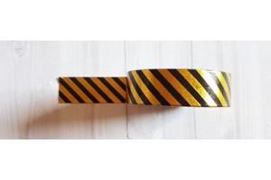 masking tape diagonales foil or et noir