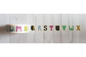 masking tape alphabet découpé