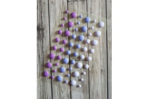 enamel dots violets