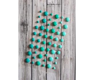 enamel dots turquoise