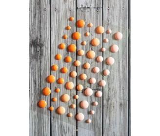 enamel dots oranges