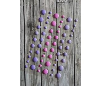 enamel dots mats violets