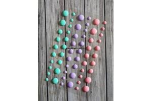 eamel dots mats pastel