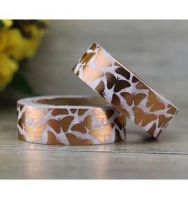 masking tape papillons foil or rose
