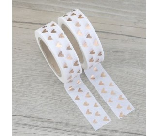 masking tape coeurs foil or rose