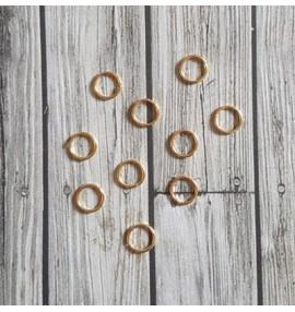 10 anneaux brisés dorés