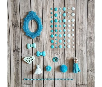 kit embellissements bleus