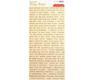 tiny text stickers Cosmo Cricket