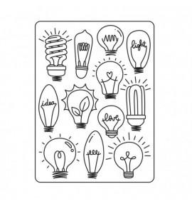 classeur d'embossage Darice light bulbs
