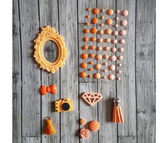 kit embellissements oranges