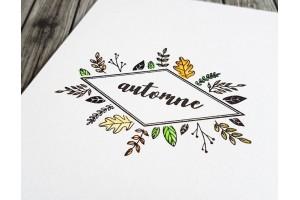 planche étiquette automne