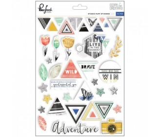 puffy stickers Escape the ordinary Pinfresh Studio