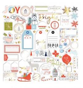 Pinkfresh Studio December Days gold foil die cuts