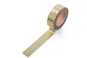 masking tape zig zag horizontal foil or fond vert mint