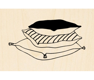 tampon pile de coussins