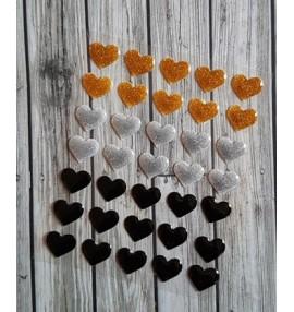 enamel shapes coeurs précieux