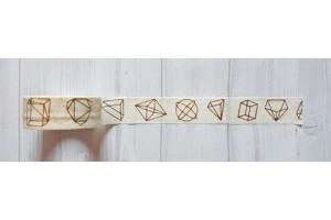 masking tape géométrique foil or