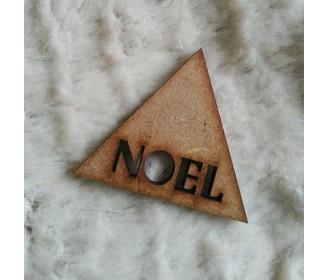 triangle noel bois