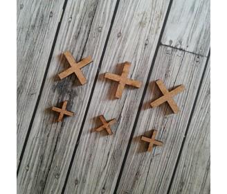 lot de 5 croix bois