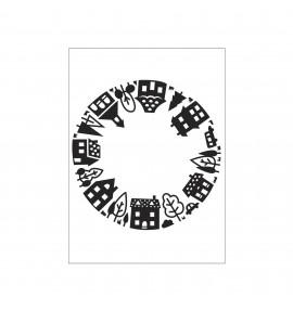 classeur d'embossage Darice house pattern open circle