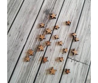 mini étoiles bois