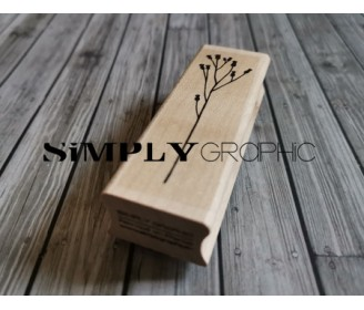 tampon bois fleurs séchées