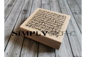 tampon bois fond alphabet