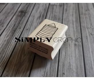 tampon bois lampion papier