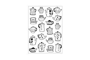 classeur d'embossage Darice tea & coffee pots