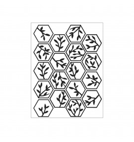 classeur d'embossage Darice hexagon leaves and branches