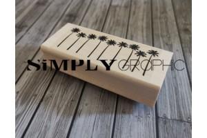 tampon bois rangée de palmiers