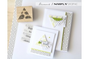 tampon bois triangle feuilles de palme