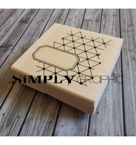 tampon bois fond diamant étiquette
